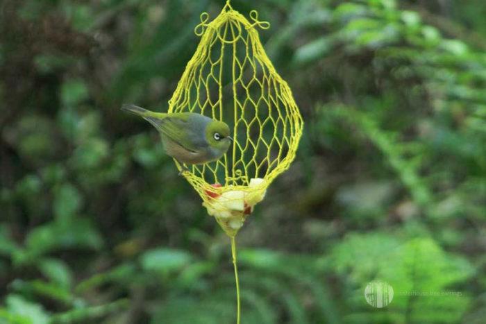 Frill Nest Tree Earring Bird Feeder