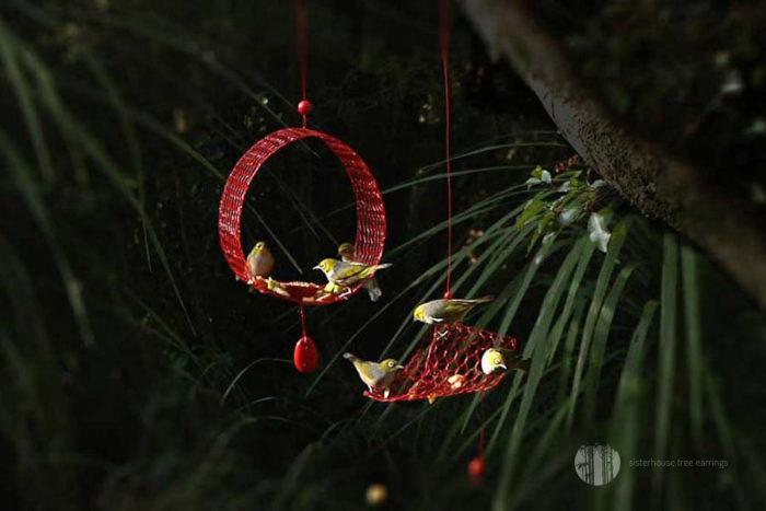 Nectar Ring Tree Earring Bird Feeder